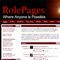 RolePages role playing